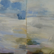 "fresh air, diptych, 30""x60"", oil on canvas"